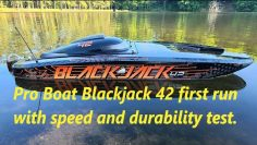 Pro Boat Blackjack 42 8S first run with speed & durability test