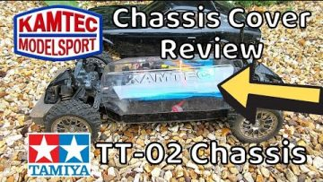 Review of Tamiya TT-02 Chassis Cover by Kamtec.  TT02 Rally Cross Car Dust Cover Clear Plastic