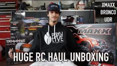 HUGE $5000 RC HAUL UNBOXING (XMAXX | UDR | BRONCO | ACCESSORIES) & FIRST RUN!