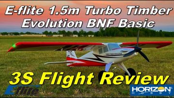 E-flite Turbo Timber Evolution Flight Review with 2200mAh 3S Battery
