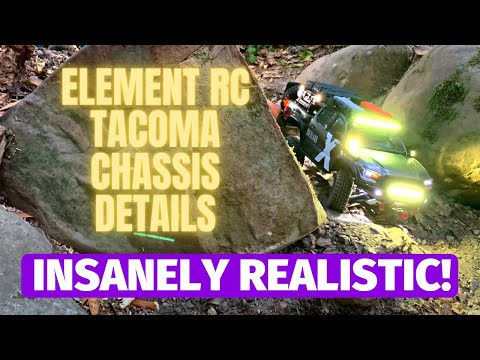 Element RC Toyota Tacoma RC Truck Chassis Details — scale truck build Part 2 of 2