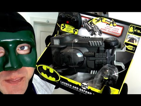 Batmobile Launch and Defend Car RC [Spin Master] mit Batman |Review