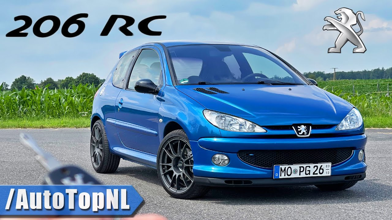 Peugeot 206 RC REVIEW on AUTOBAHN [NO SPEED LIMIT] by AutoTopNL