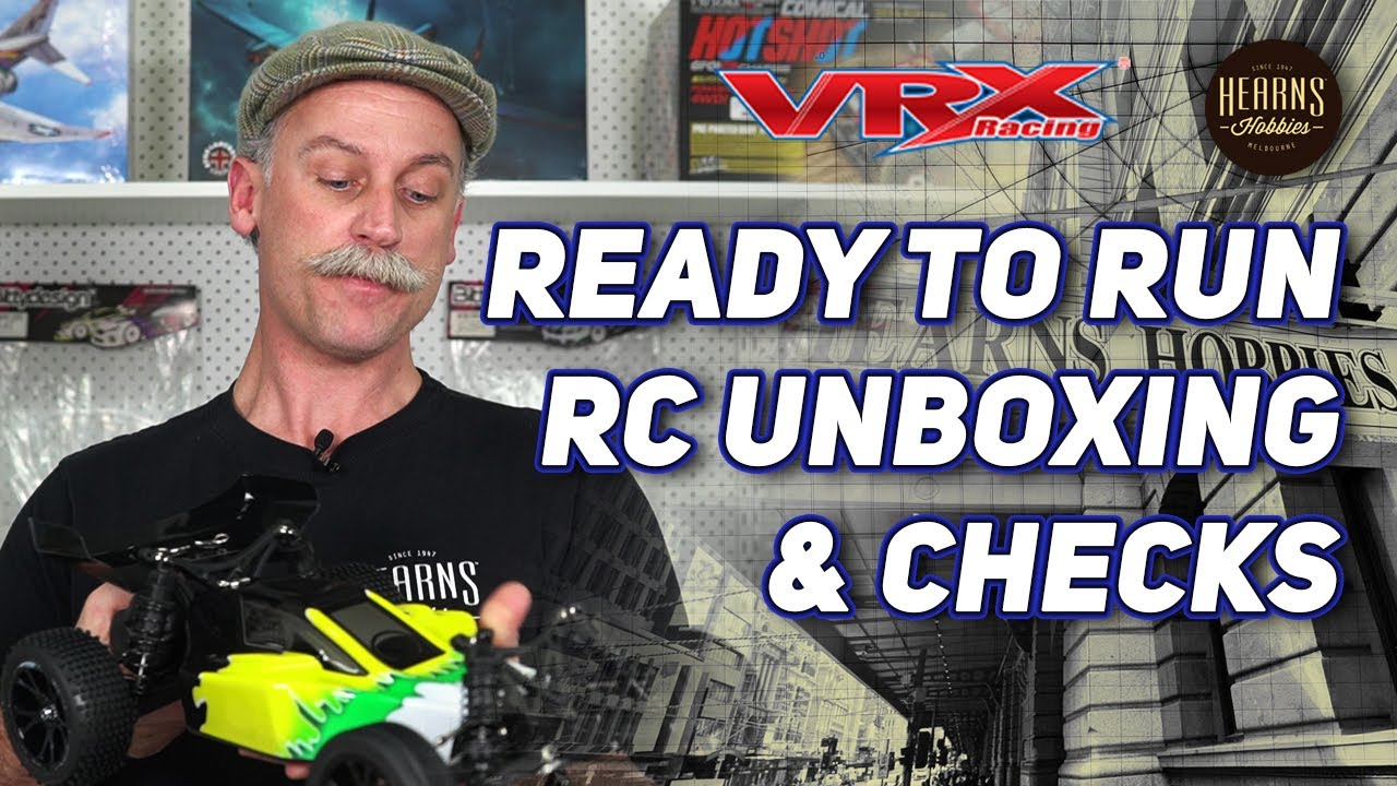 VRX | Ready To Run (RTR) RC Car Unboxing and Preliminary Checks | #askHearns