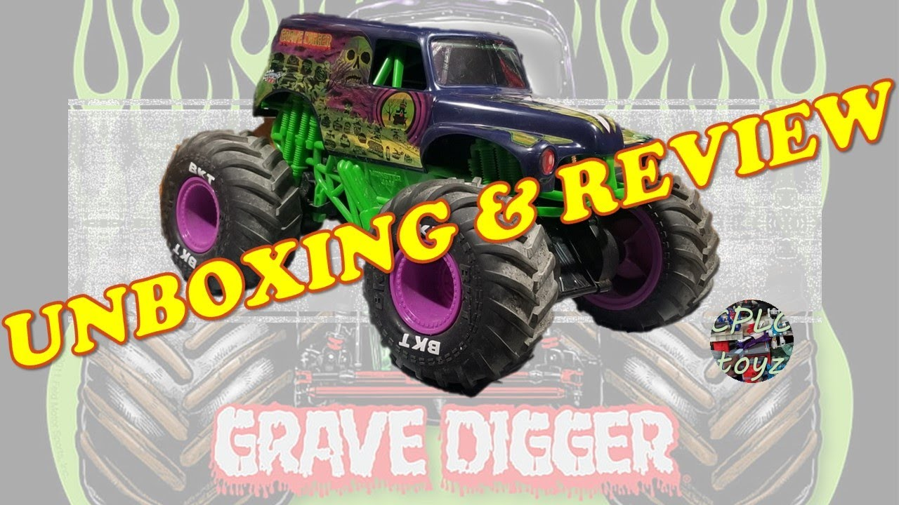 Monster Jam RC Freestyle Force Grave Digger unboxing and review!