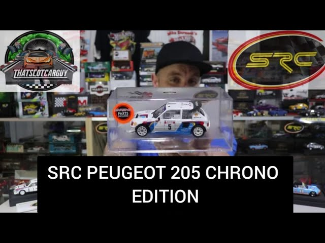 SRC SLOT CAR REVIEW PEUGEOT 205 CHRONO EDITION A 1980'S RALLY BEAST